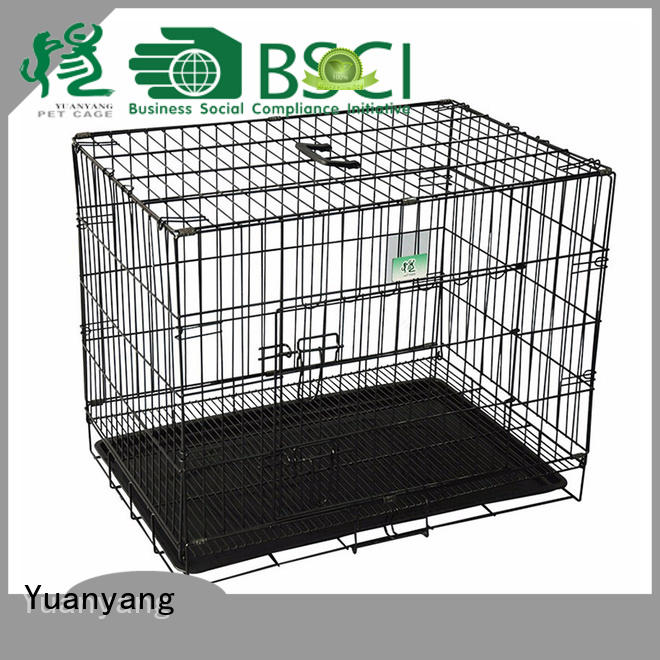 Durable metal wire dog crate manufacturer for transporting puppy