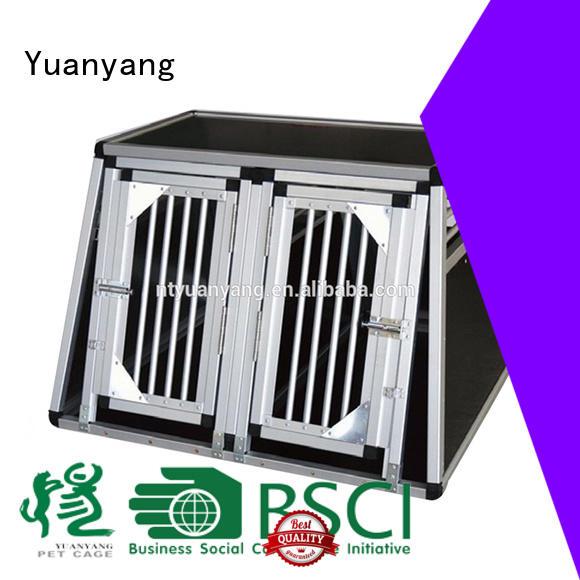 Yuanyang custom aluminum dog crates factory for dog car transport