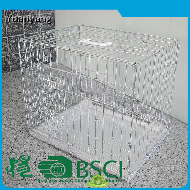 Yuanyang steel dog cage supply for transporting dog