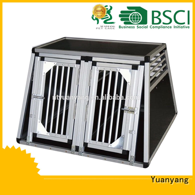 Top aluminum dog box supply for transporting dog