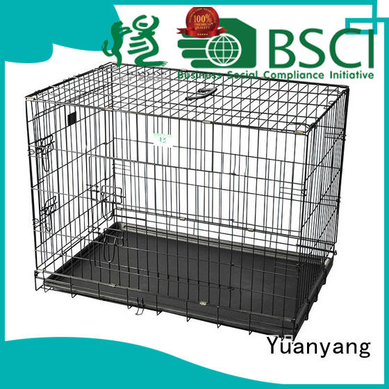 Yuanyang Excellent quality steel dog crate manufacturer for transporting puppy