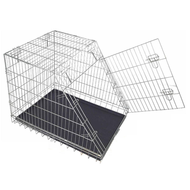 Sloping Folding Galvanized Steel Wire Cage Metal Wire Dog Cage YD004