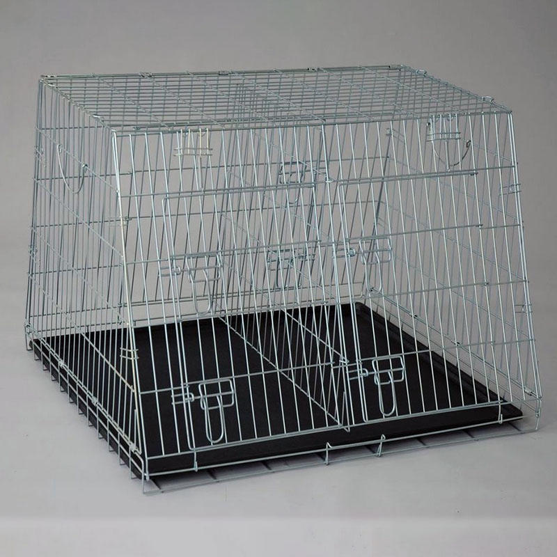 Galvanized Folding Wire Sloping Dog Cages Strong Dog Crates YD019