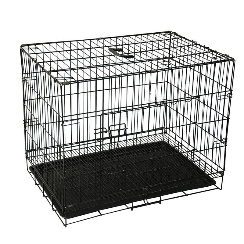 product-Yuanyang-Homes for Pets Dog Crate Double Door Folding Metal Dog Crates YD048-img
