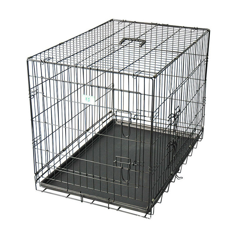 Homes for Pets Dog Crate Double Door Folding Metal Dog Crates YD048