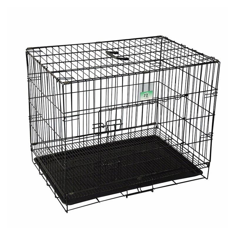 UK Folding Wire Dog Transport Cage with Metal Tray YD058
