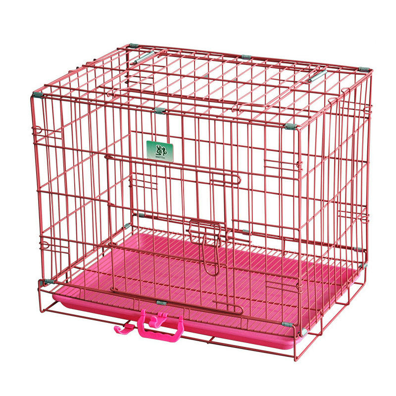 Portable Folding Dog Cage Metal Pet Crate YD105