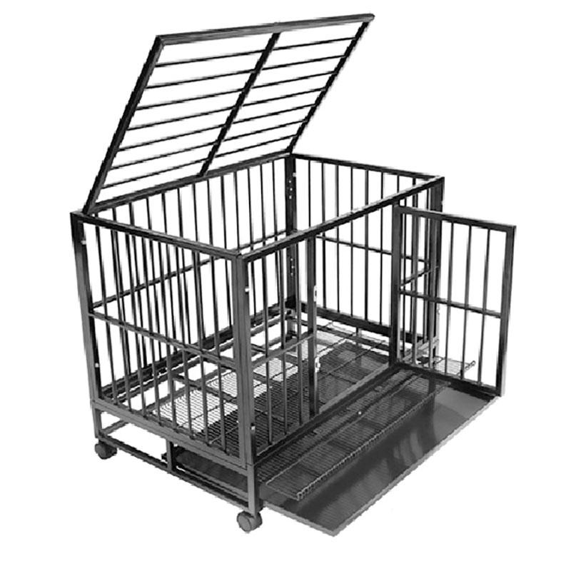 product-Yuanyang-High Quality Assembled Easy Collapsible Steel Dog Crate YD057B-img