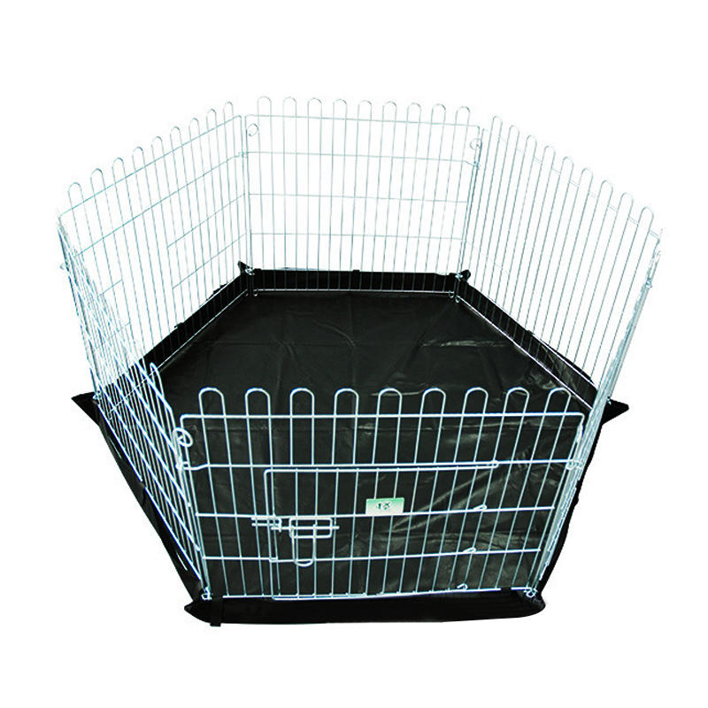product-Yuanyang-High Quality Galvanized Outdoor Mesh Wire Pet Pen with Door YD009-img