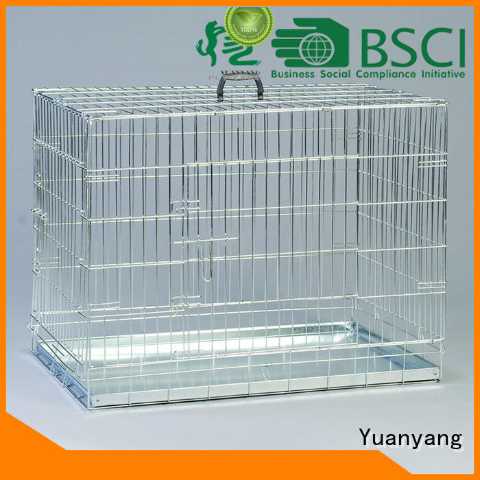 Yuanyang steel dog cage supply for training pet