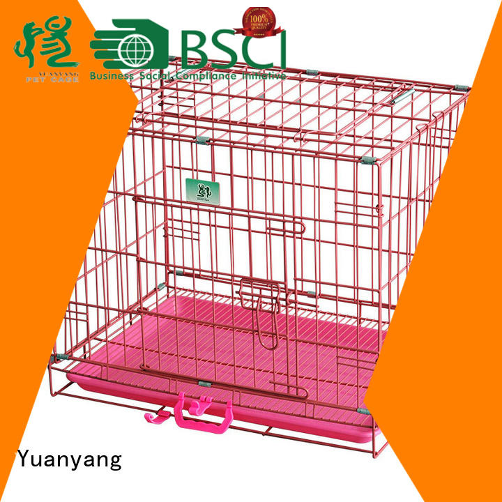Yuanyang metal wire dog cage supplier for transporting dog