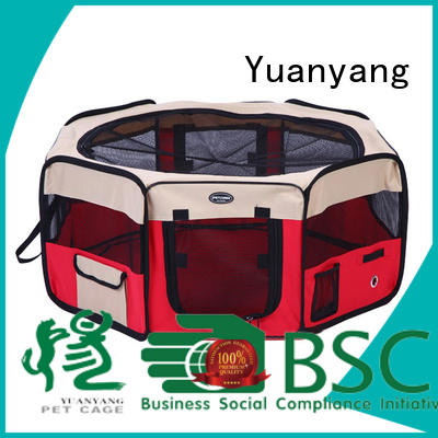 Yuanyang Excellent quality fabric dog playpen company for carrying dog