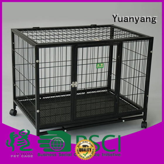 Yuanyang heavy duty dog cage manufacturer for transporting puppy