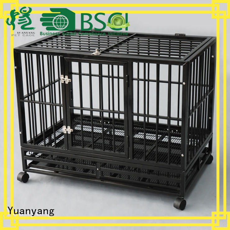Yuanyang Professional wire pet cage supply for transporting puppy