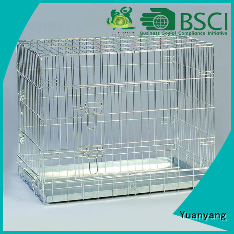 Yuanyang Professional wire crates for dogs factory for transporting puppy