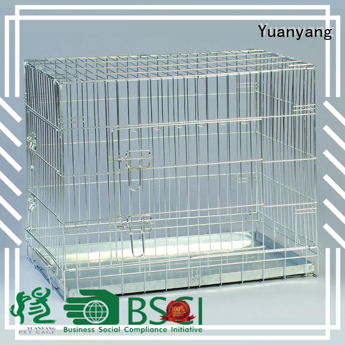 Yuanyang Top wire dog crates manufacturer for transporting puppy