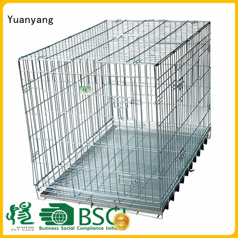 Yuanyang metal dog kennel company for transporting puppy