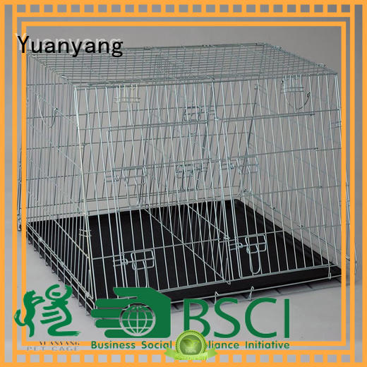 Yuanyang metal wire dog cage manufacturer for transporting puppy