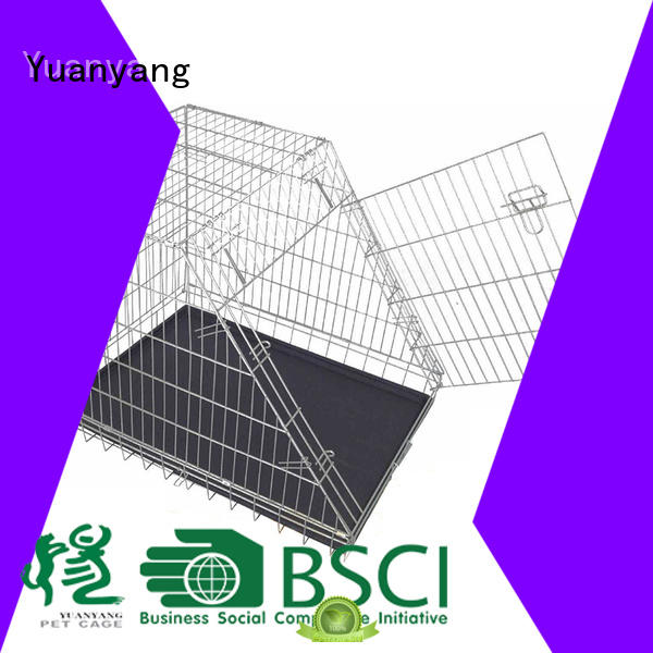 Yuanyang Professional heavy duty dog cage manufacturer for transporting puppy