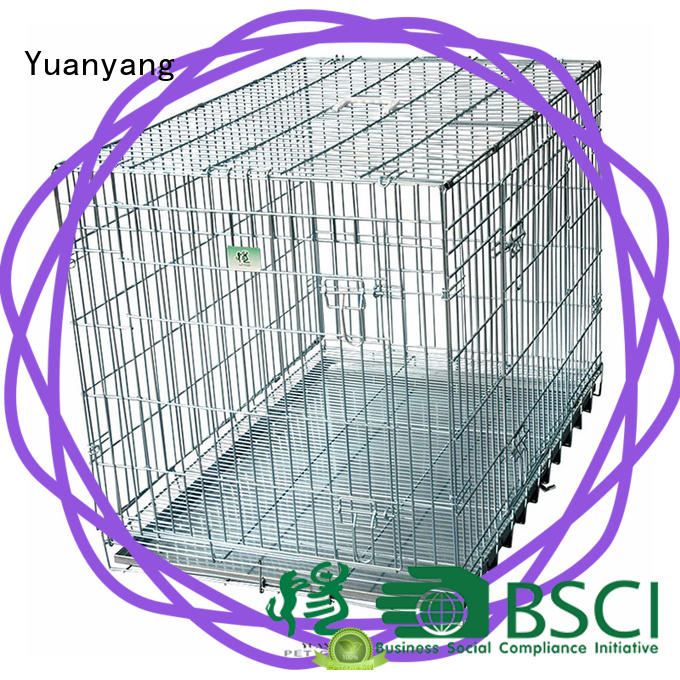 Excellent quality steel dog kennel manufacturer for transporting puppy