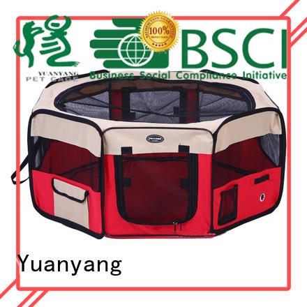 Yuanyang Durable fabric puppy playpen supply comfortable area for pet