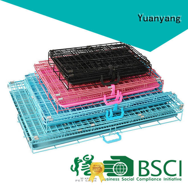 Yuanyang Custom wire dog crates company for transporting puppy