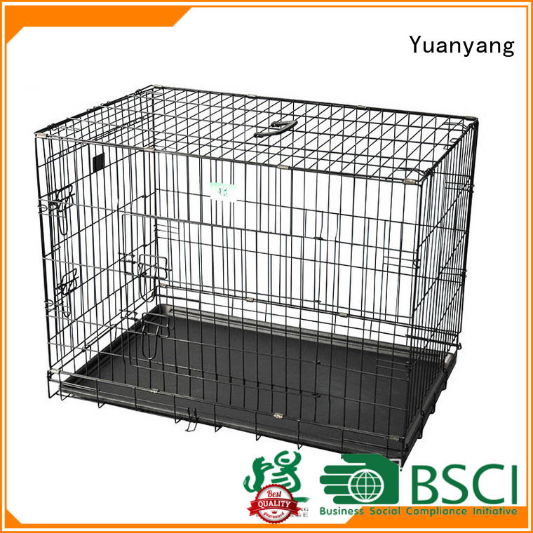 Yuanyang Excellent quality steel dog crate company for transporting puppy