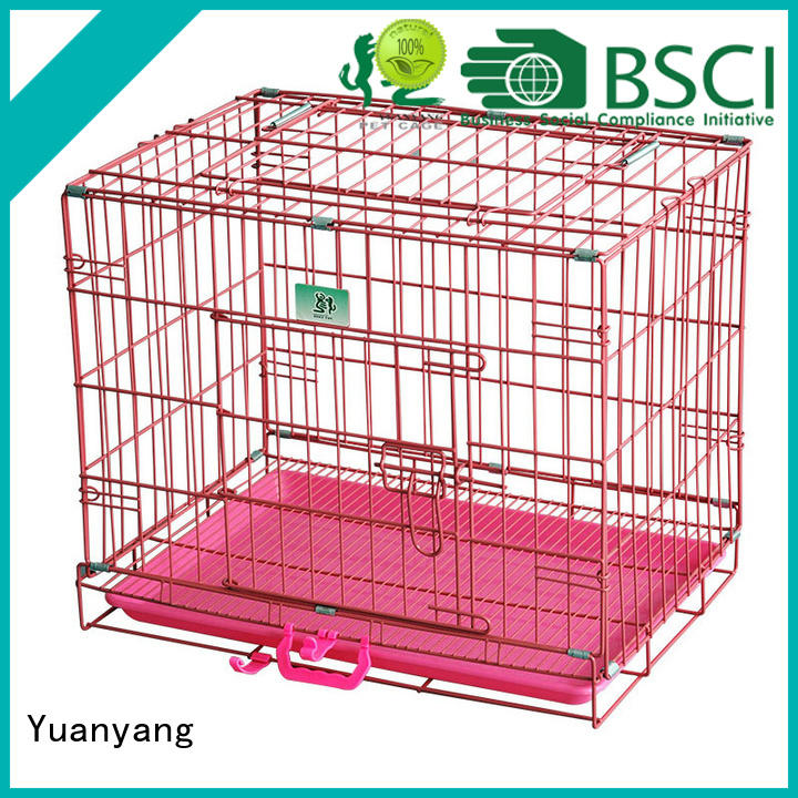 Yuanyang Durable metal pet crate supply for transporting dog