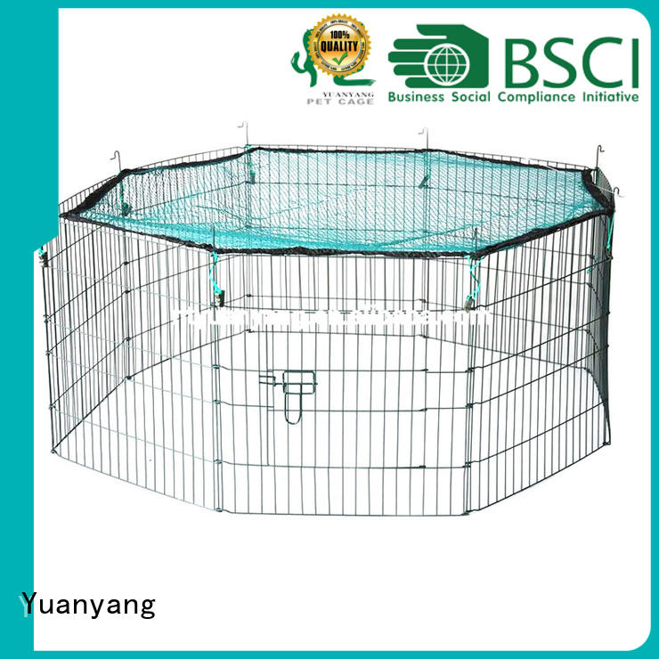 Yuanyang Custom metal puppy playpen manufacturer for dog indoor activities
