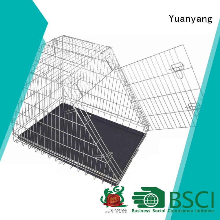 Yuanyang steel dog kennel factory for transporting puppy