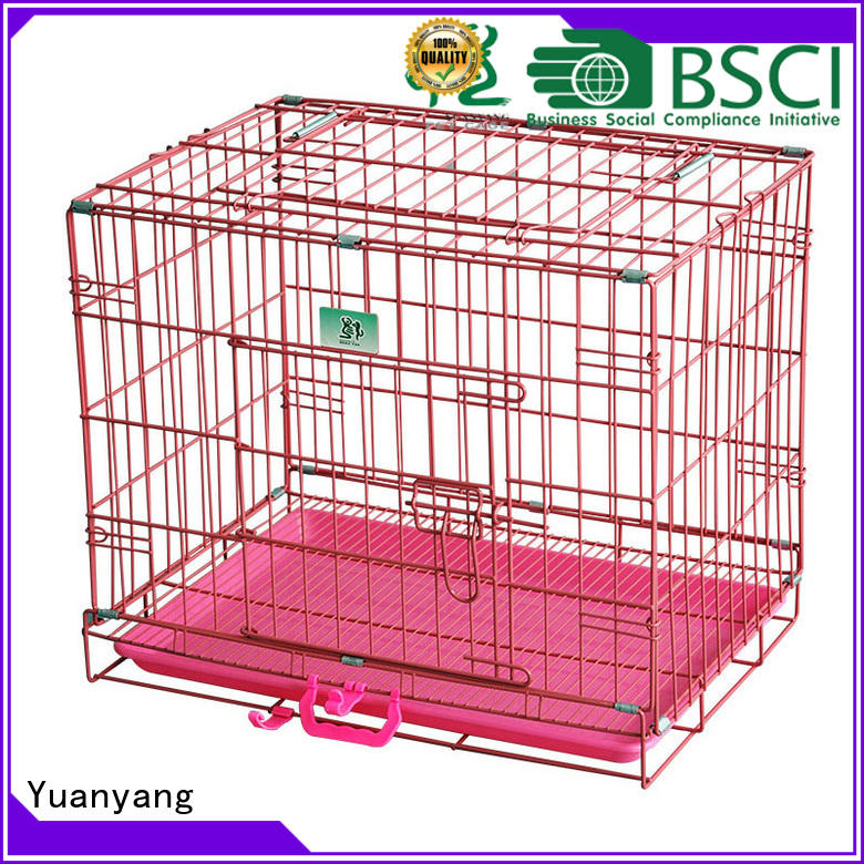 Yuanyang wire dog crates supplier for transporting puppy