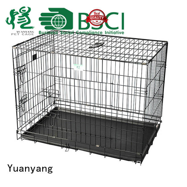Yuanyang steel dog kennel manufacturer for transporting puppy