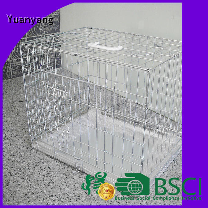 Yuanyang Custom metal dog cage company for transporting puppy