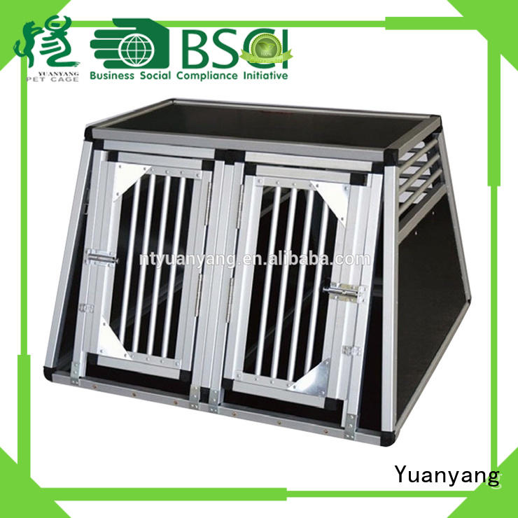 Professional aluminum dog cage supply for transporting puppy