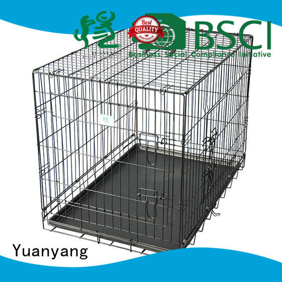 Yuanyang metal dog kennel supply for transporting puppy