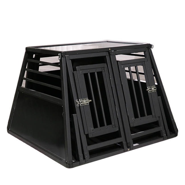 HeavyDuty Dog Carrier Aluminum Dog Kennel Pet Transport Box double door  N series