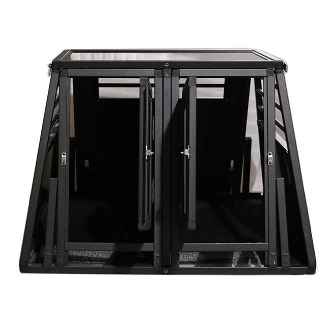 product-HeavyDuty Dog Carrier Aluminum Dog Kennel Pet Transport Box double door N series-Yuanyang-i-1