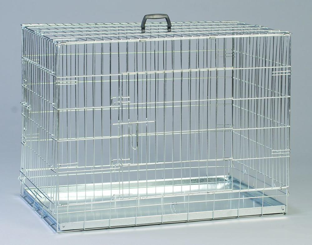 galvanized zinc dog cage